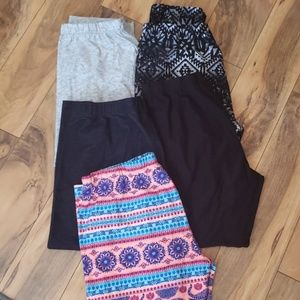 Bundle of 5 capri length leggings